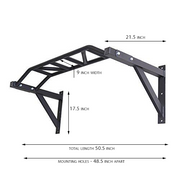 Multi-Grip Mounted Pull-Up Bars - with dimensions