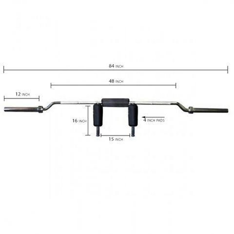 Olympic Safety Squat Bar - Dimensions