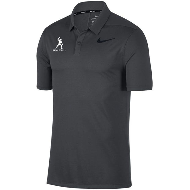 Nike Breathe Men's Standard Fit Golf Polo - Anthracite