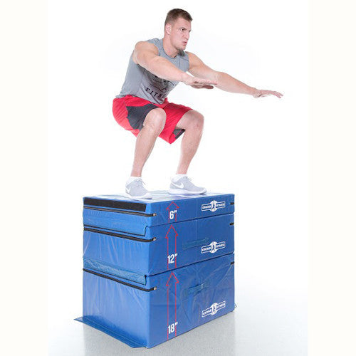 "Gronk Fitness Soft Plyo Box Set. 6"" 12"" & 18"" - Commercial Grade"