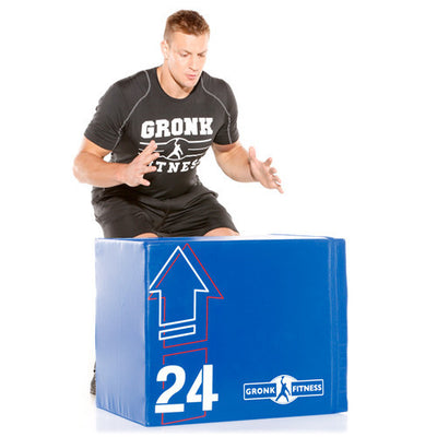 Soft Wood Plyo Box w/WeightShift Technology - Gronk Fitness Products