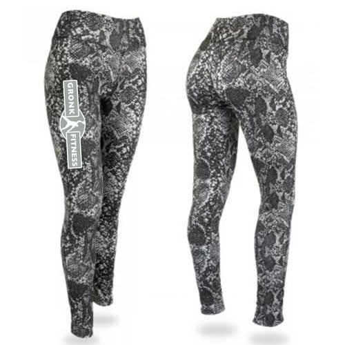 GF Zubaz Post Print Leggings - Black