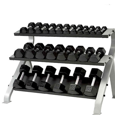Element Fitness Commercial 3-Tier Hex Dumbbell Rack