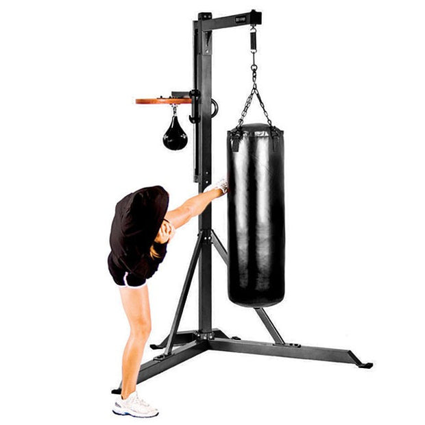 Heavy Bag Stand With Speed Platform