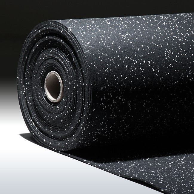 Gorilla Rubber Gym Flooring Rolls 4' x 50' | Resilient & Durable Exercise Rolled Mat For Gym Facility Or Home Use