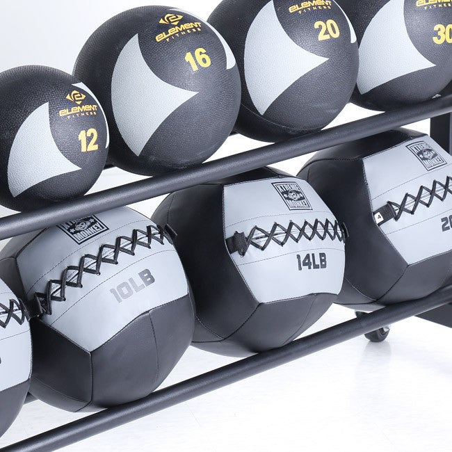 3 Tier Commercial Med Ball Rack - close up