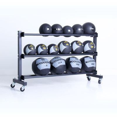3 Tier Commercial Med Ball Rack - Full view