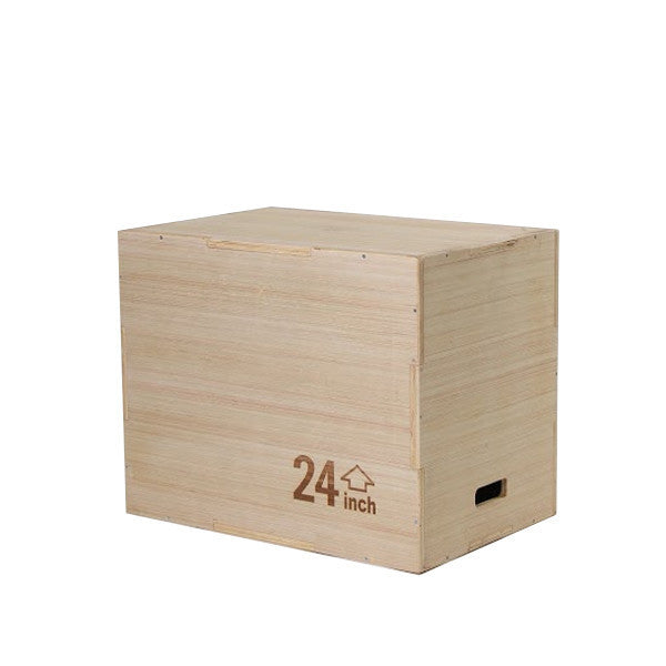 Wood Plyo Box w/Bamboo Finish - Gronk Fitness