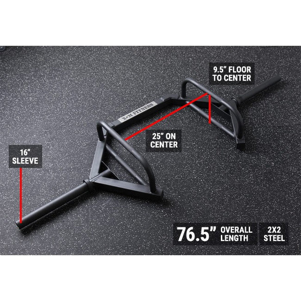 XM FITNESS STEP THROUGH OLYMPIC HEX / TRAP BAR - Dimensions