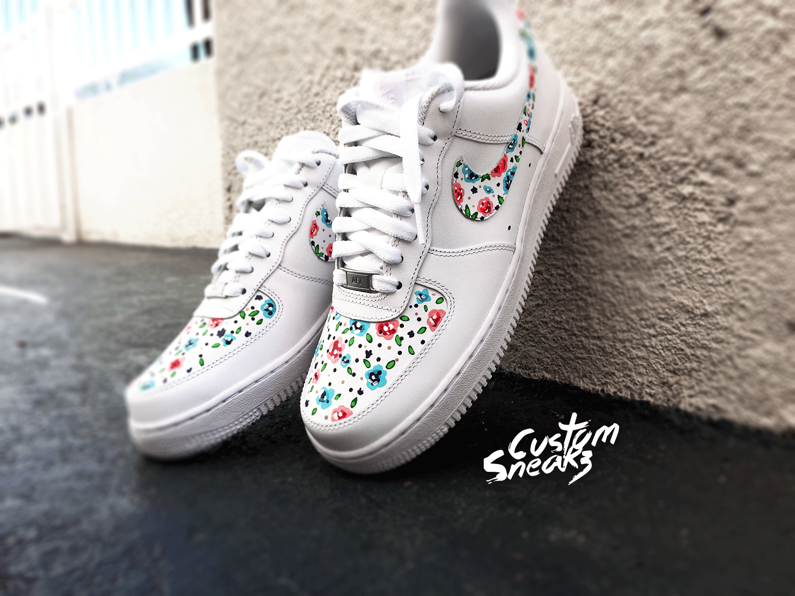 1189516401dce custom painted nike air force 1