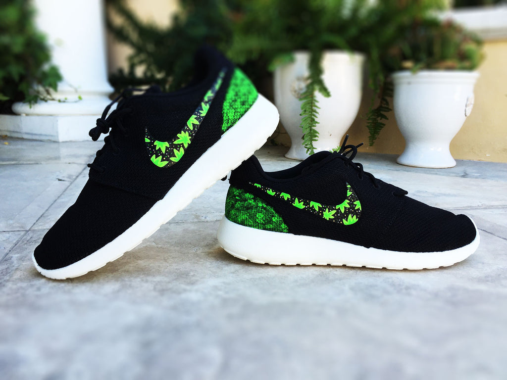 Custom Cannabis Nike Roshe, Cannabis design, 420, Unixes custom weed roshe, Mens and Womens sizes