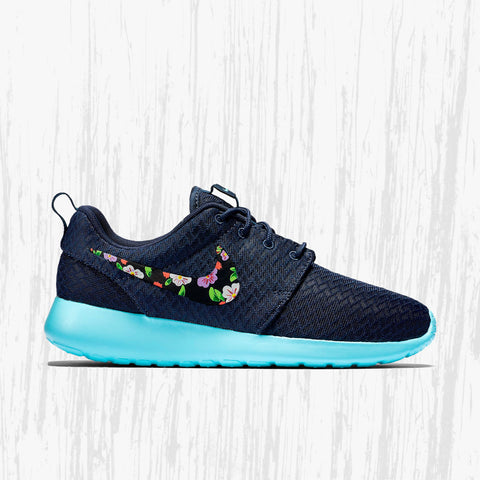 watch 57f9d 9b13d Nike Roshe Custom Floral design, Hand painted floral, lilac flower, Women s  Nike Roshe