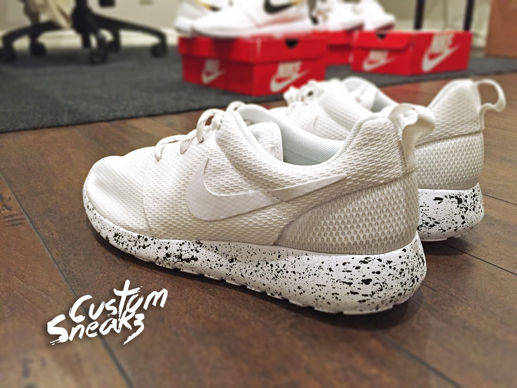 more photos ff428 ae44d Custom Nike Roshe Black and Gold splatter design, Custom Roshes, Womens and  Mens, Unisex sizes – CustomSneakZ