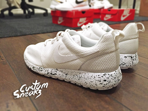 Custom Roshes, Nike roshe oreo design, oreo crumbs, Black and White, Men and Women