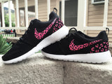Womens Custom Roshe, Pink cheetah print, leopard print, womens custom nike roshe cute trendy design Limited Stock