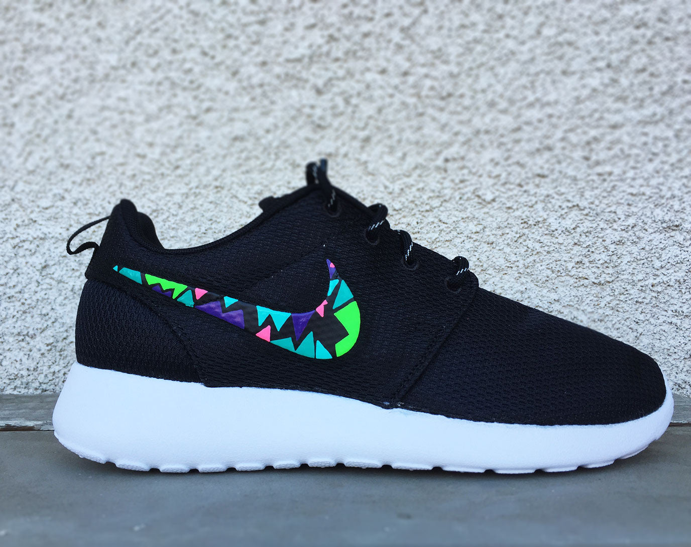 more photos 68542 e3c48 Home   Products   Nike Roshe Run custom design, Rosherun, Mens and Womens  sizes available, Lime, Green, Pink, Purple, mosaic design