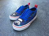 Toddler Custom Vans Star Wars Galaxy shoes, Custom Sneakers, galaxy painted shoes, Stormtrooper, Imperial, Red, white and blue