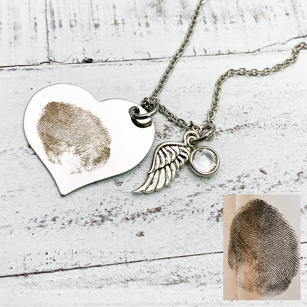 Fingerprint Memorial Necklace