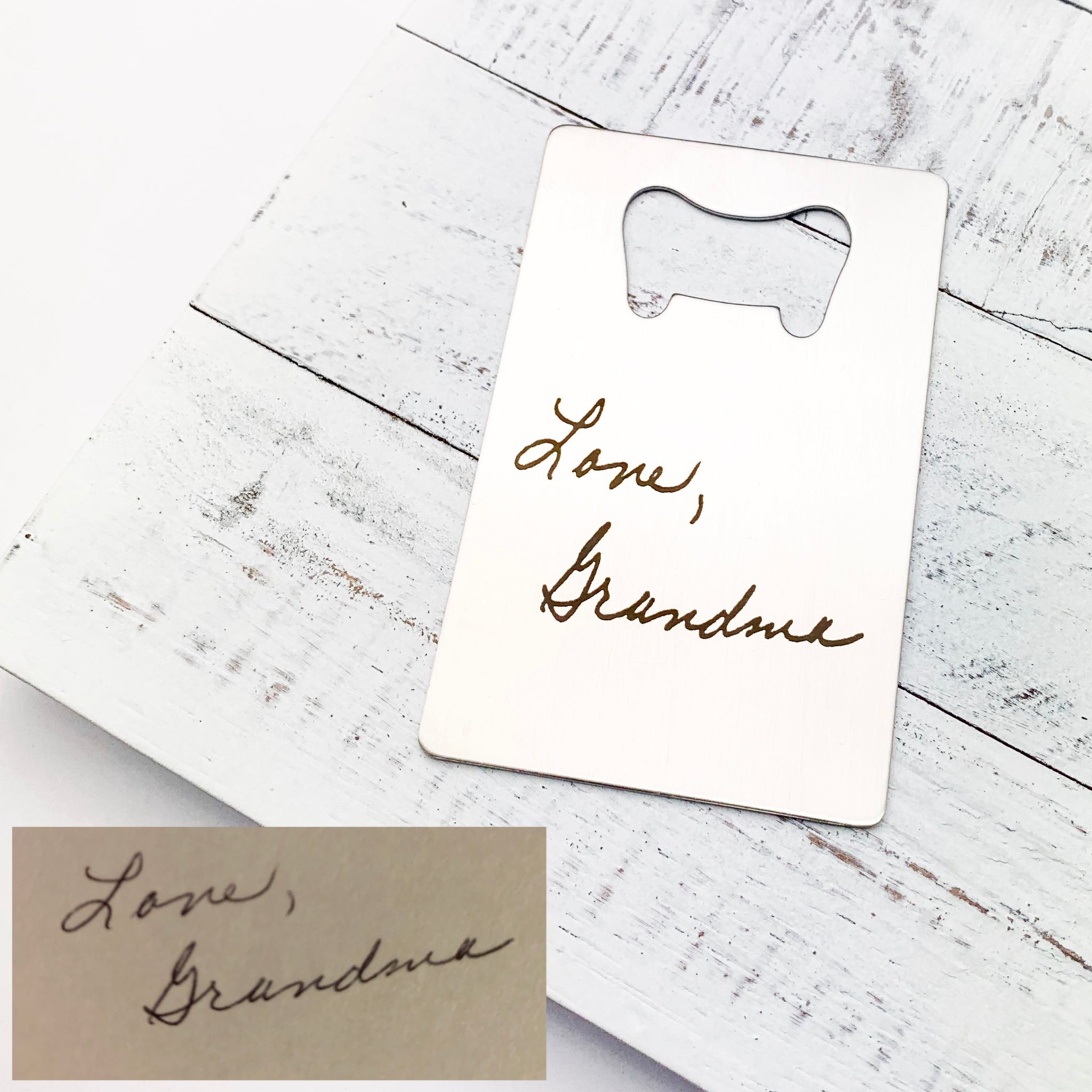 Handwritten Bottle Opener