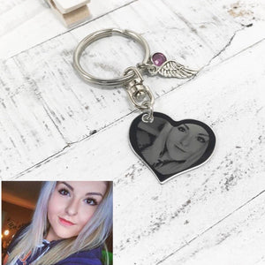 Double Sided Heart Keychain