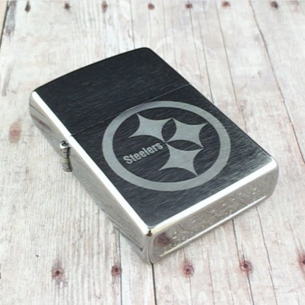 Sports Zippo Brushed Chrome Pocket Lighter