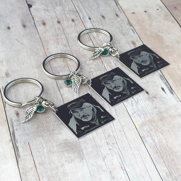Photo Engraved Keychain - 3 Pack