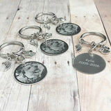 Photo Engraved Keychain - 4 Pack
