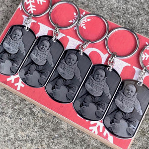 Photo Engraved Keychain - 5 Pack