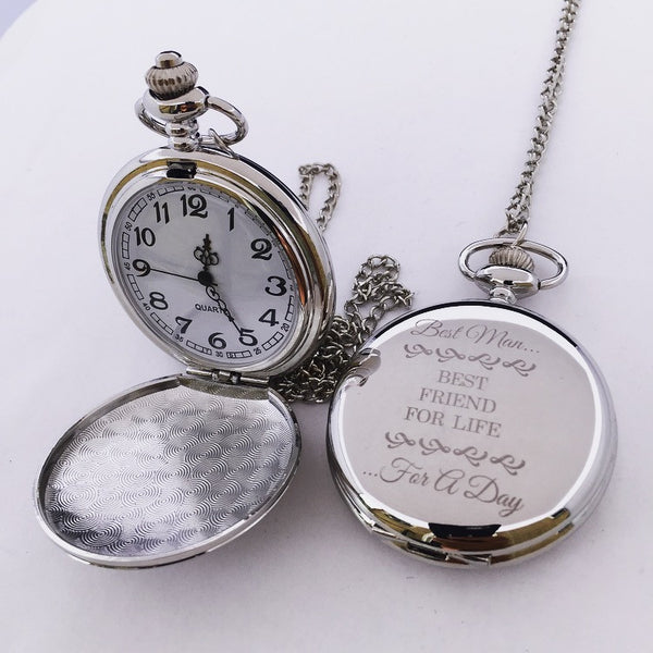 Pocket Watch Silver Color