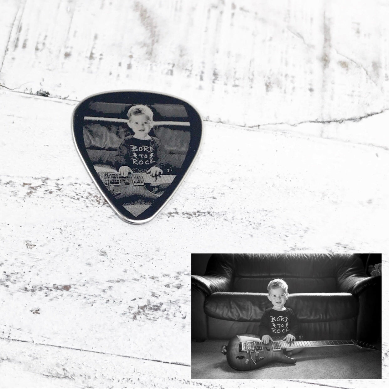 Double sided Engraved Guitar Pick