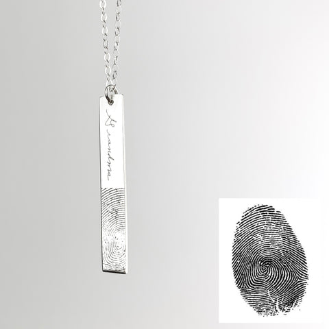Vertical Engraved Fingerprint