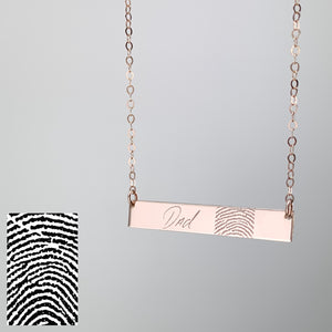 Fingerprint Bar Necklace
