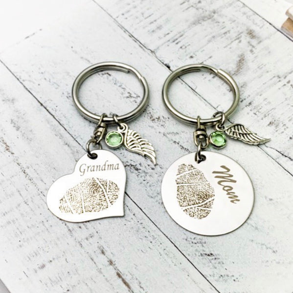Fingerprint Memorial Keychain