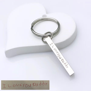 Handwritten Bar Keychain