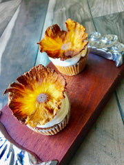 Muffin w/Pineapple Flowers