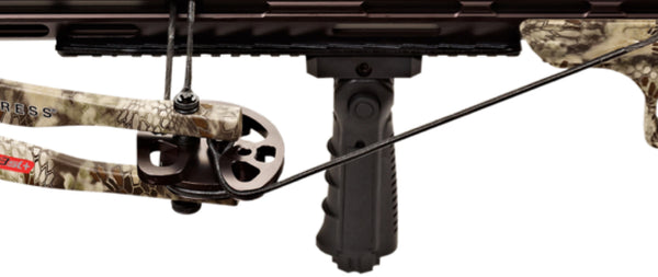 Crossbow with adjustable rail