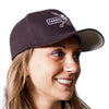 Carbon Express Adrenaline Flex Fit Hat, Black With PInk; Right