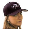 Carbon Express Adrenaline Flex Fit Hat, Black With PInk Front Angle