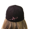 Carbon Express Adrenaline Flex Fit Hat, Black With PInk; Back