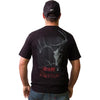 Mens Carbon Express Black T-Shirt With Buck Skull, Gear Carbon Express
