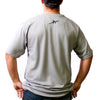 Men Carbon Express Silver Performance T-Shirt; Back