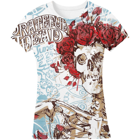 Grateful Dead  Classic Bertha Junior Top White