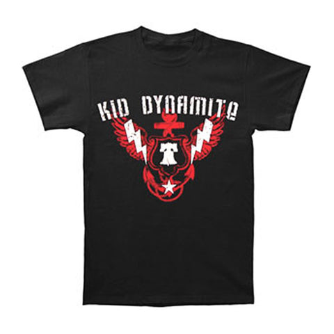 Kid Dynamite Men's  Bell Crest T-shirt Black Rockabilia