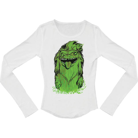 Bring Me The Horizon Women's  Creature Girls Jr Thermal Long Sleeve White