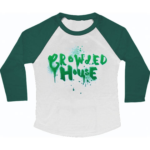 Crowded House  Dripping Logo Junior Top White