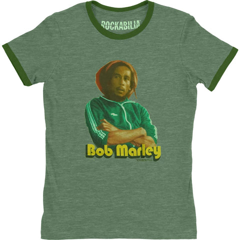 Bob Marley  Tough Junior Top Green