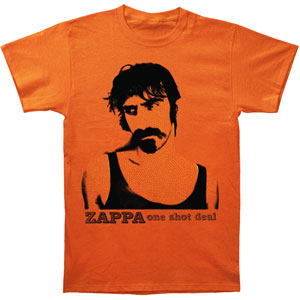 Frank Zappa Men's  One Shot Deal T-shirt Orange