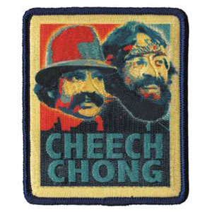 Cheech & Chong Men's Retro Embroidered Patch Yellow