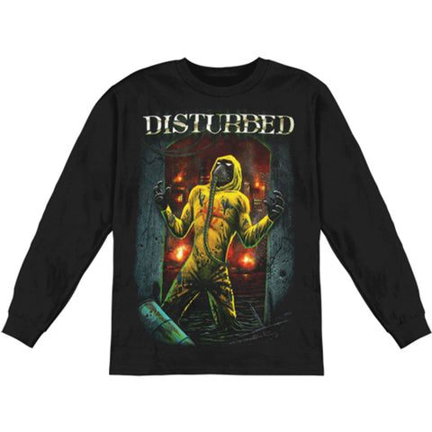 Disturbed Men's   Long Sleeve Black Rockabilia