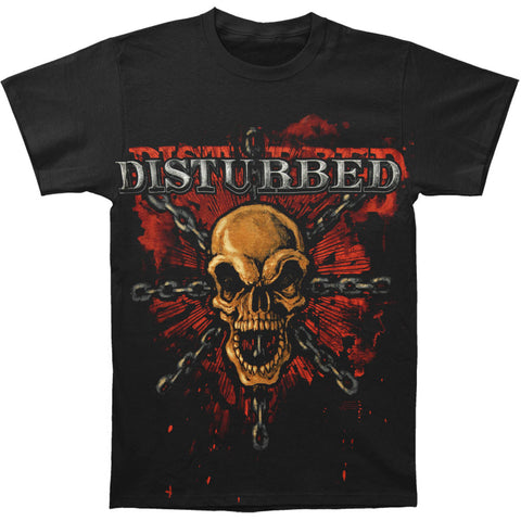 Disturbed Men's  Skull T-shirt Black Rockabilia